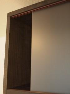 木工棚 アクリル扉